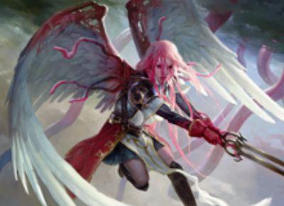 異界月に収録の伝説神話天使「折れた翼、ギセラ」が公開!飛行&先制攻撃&絆魂に加え、ブルーナと合体して「消えゆく光、ブリセラ」へと変貌!