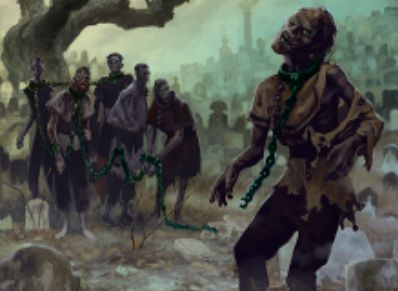 異界月にレア収録の黒ゾンビ「Noosegraf Mob」が公開!呪文が唱えられるたびにサイズを減らしつつゾンビトークンを生産!
