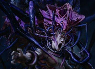 異界月のレア昆虫エルドラージ「膨らんだ意識曲げ」が収録公開!唱えると3マナ以下と4マナ以上のカードをハンデス!現出によるコスト軽減も!