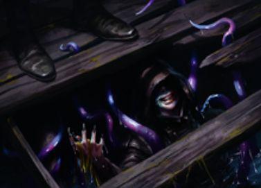 青レアの人間ホラー「波止場の潜入者」が異界月に収録!潜伏&プレイヤーにダメージを通すとルーター能力発動&クリーチャーを捨てるたびにコストを支払うとエルドラージトークンを生産!