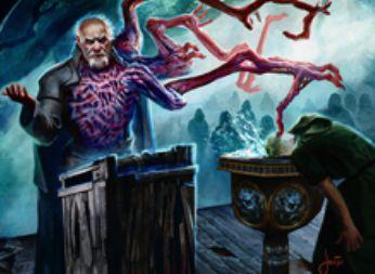 異界月収録のレア人間ホラー「エムラクールの福音者」が公開!自身と他の非エルドラージを生贄に捧げ、同数のエルドラージホラー・トークンを生産!