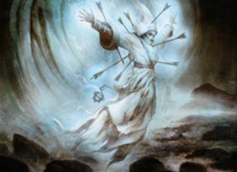 異界月にレア収録のスピリット・クレリック「無私の霊魂」が公開!自身を生贄に自軍全体に「破壊不能」を付与できる軽量飛行アタッカー!