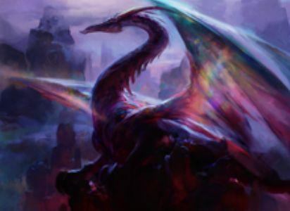 赤神話ドラゴン「Mirrorwing Dragon」が異界月に収録!このクリーチャー単体を対象に取る呪文は、呪文のコントローラーの戦場全体にもコピーされる!