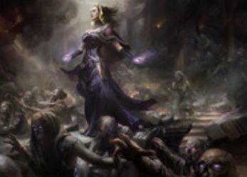 リリアナが描かれた黒レアソーサリー「Dark Salvation」が異界月に収録!黒XXのコストでX体のゾンビを生産し、ゾンビの数だけ対象のクリーチャーを-X/-Xの弱体化!