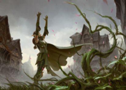 異界月にレア収録のニッサが描かれたソーサリー「見事な再生」が公開!あなたの墓地の全土地をタップ状態で戦場に戻す!