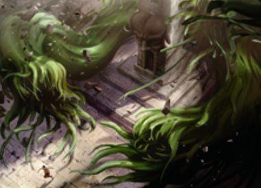 王位争奪に収録の緑レアウーズ「Splitting Slime」が公開!5マナ3/3&怪物化3&怪物化すると自身のコピーのトークンを生産!