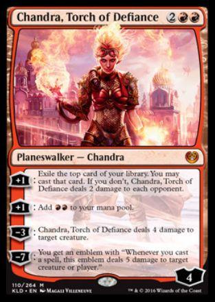 Chandra, Torch of Defiance(カラデシュ プレインズウォーカー チャンドラ)
