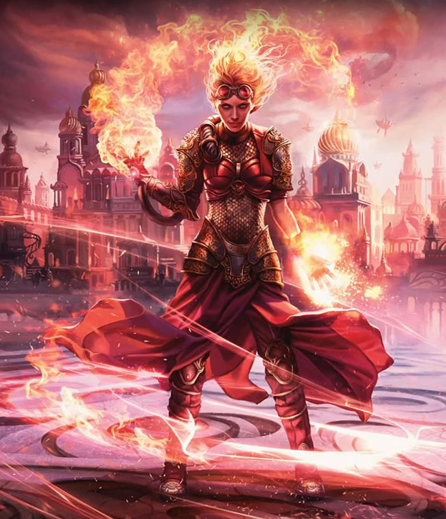 Chandra, Torch of Defiance(MTG カラデシュ フルアート)