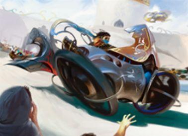 アンコモンのアーティファクト「楕円競走車」がカラデシュに収録!能力「搭乗」により、パワー1以上のクリーチャーを「搭乗」させることでクリーチャーとして運用できる!