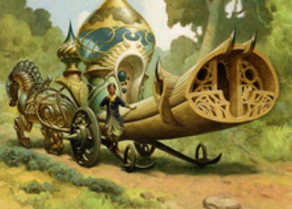 カラデシュ収録のレア機体「耕作者の荷馬車」が公開!タップで好きな色マナ生産&搭乗3を達成すれば3マナ5/5!