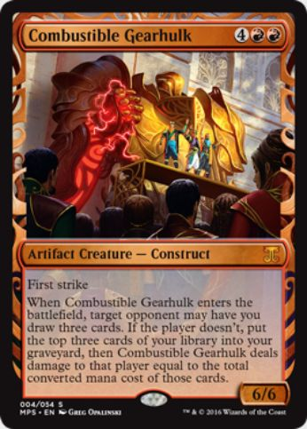 Combustible Gearhulk(Kaladesh Inventions)