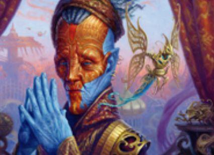 伝説の工匠ヴィダルケン「Padeem, Consul Of Innovation」が公開!自軍の全アーティファクトに呪禁を付与&自アップキープに最大マナコストのアーティファクトをコントロールしていれば1ドロー!