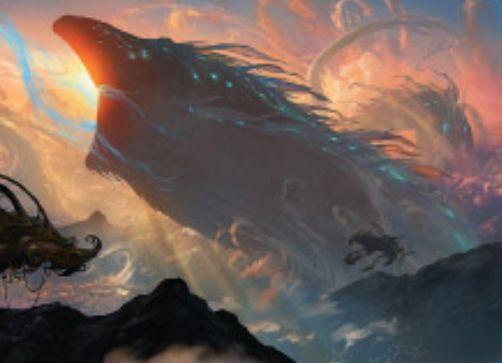 青レアのリバイアサン「Aethersquall Ancient」がカラデシュに収録!自アップキープごとに3個のEカウンター獲得&8個のEカウンターを消費して、他の全クリーチャーをバウンス!