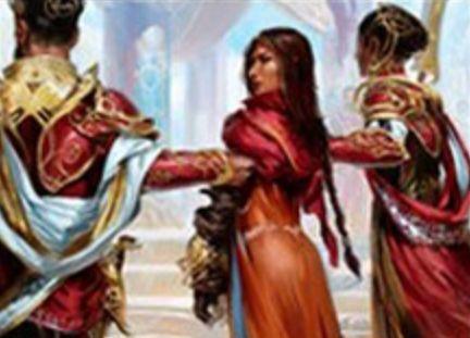 白レアのオーラ「Captured by the Consulate(カラデシュ)」が公開!エンチャントしたクリーチャーのアタックを不可にし、単一の対象をとる呪文をすべてそのクリーチャーへ移す!