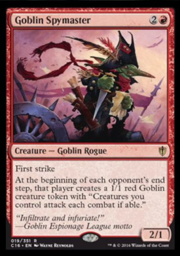 Goblin Spymaster(統率者2016)
