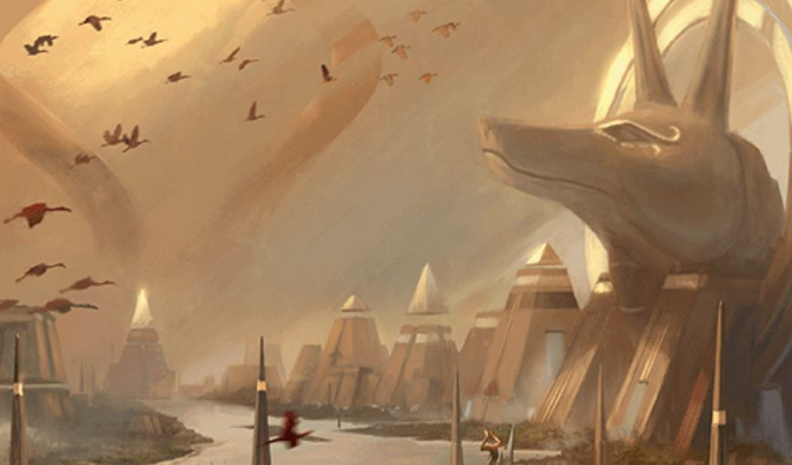 MTG「アモンケット」の新アートが公開!ニコル・ボーラスの影響が随所に見られる世界観!