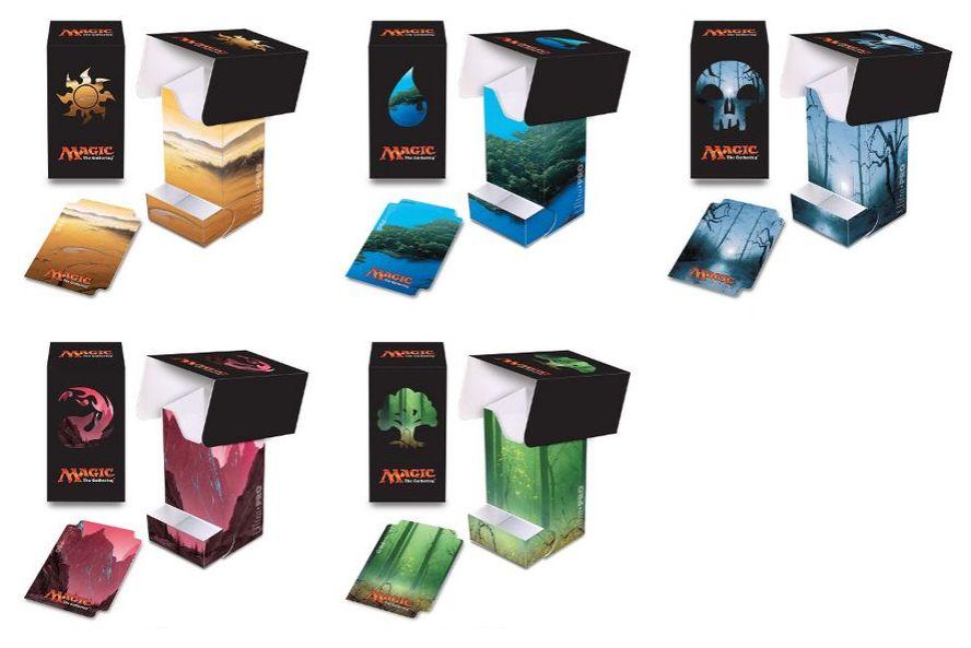 ウルトラプロより「アンヒンジド」のフルアート基本土地イラストを採用したトレー付きデッキボックスが発売決定!発売日は2017年5月!