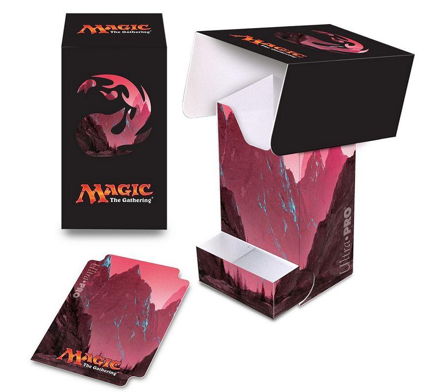 アンヒンジドのフルアート「山」を使用したデッキボックス