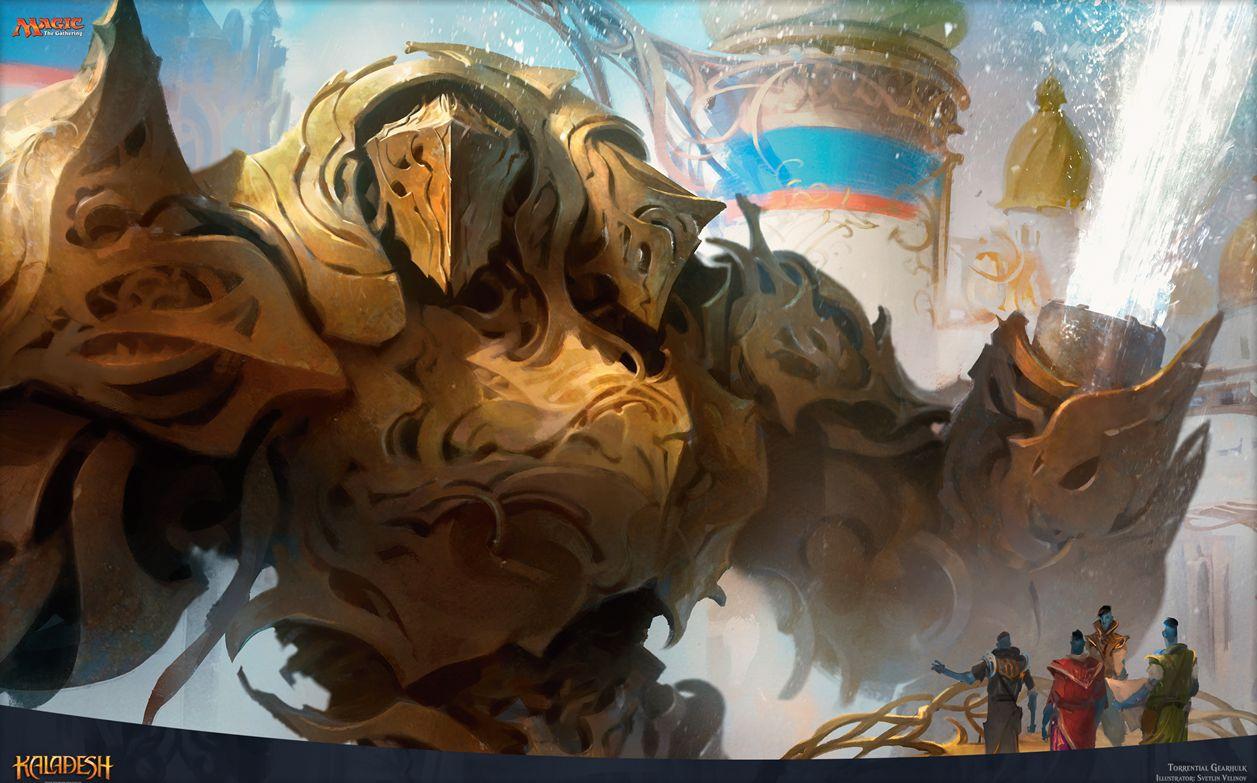 カラデシュ 奔流の機械巨人 Torrential Gearhulk がmtg公式壁紙の