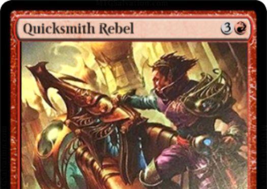 霊気紛争の赤レア工匠「Quicksmith Rebel」がサルベにてテキスト解読!CIPにてアーティファクト1つを2点ティムに変える!