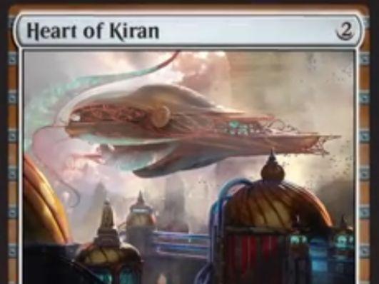 伝説神話機体「Heart of Kiran(霊気紛争)」が公開!2マナ4/4「飛行」「警戒」の「搭乗3」アーティファクト!プレインズウォーカーの忠誠値を使って「搭乗」することも可能!
