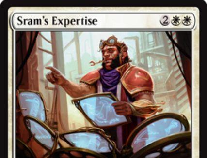 霊気紛争の白レアソーサリー「スラムの巧技(Sram's Expertise)」が公開!4マナで1/1トークンを3個出しつつ、追加で3マナ以下の呪文を無料プレイ!