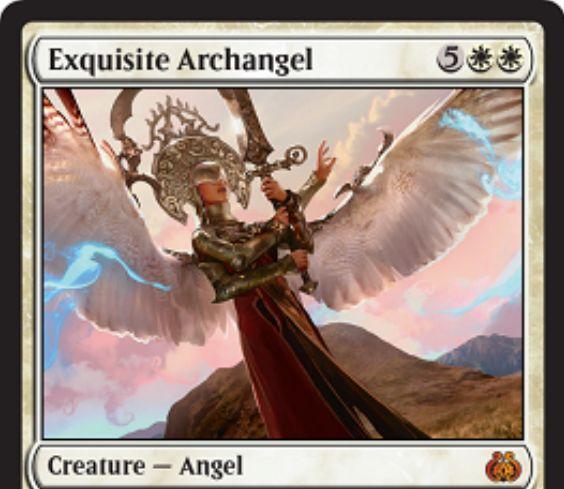 霊気紛争の白神話天使「Exquisite Archangel」が公開!ゲーム敗北時に追放され、あなたのライフをゲーム開始時に戻す!