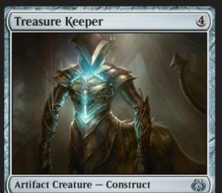 霊気紛争収録のアンコモン構築物「Treasure Keeper」が公開!4マナ3/3&ライブラリートップから3マナ以下の非土地カードがめくれるまで公開し、それを無料プレイ!