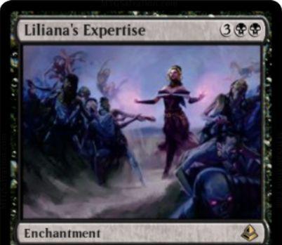 黒レアのエンチャント「Liliana's Expertise」が公開!CIPで2体の2/2ゾンビを生産し、自軍全ゾンビのP/Tを1ずつ強化!