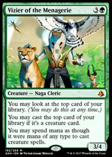 Vizier of the Menagerie(アモンケット)
