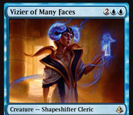 青レアの多相の戦士「Vizier of Many Faces」が公開!青ダブルシンボル4マナの「クローン」!不朽するとクリーチャーをコピーしつつマナコストを持たない白いゾンビとなる!