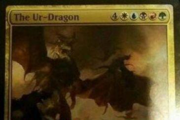 統率者2017「The Ur-Dragon」の画像が非公式スポイラーに掲載!5色の伝説ドラゴンで能力「Eminence」により統率者領域や戦場にいると他のドラゴン呪文のコストを不特定1マナ軽減!