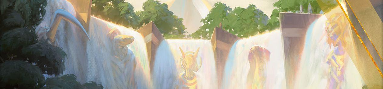 アモンケット「大瀑布」がMTG公式壁紙のラインナップに追加!破壊不能&マナフィルター能力を備えたレア土地!