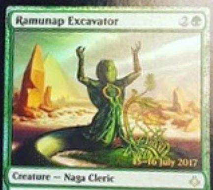 破滅の刻の緑レア生物「Ramunap Excavator」が非公式スポイラーに掲載!3マナ2/3で「世界のるつぼ」を内臓!
