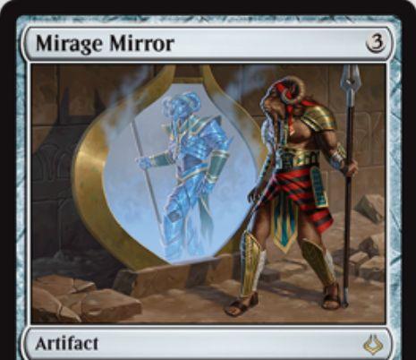 レアのアーティファクト「Mirage Mirror(破滅の刻)」が公開!3マナで設置し、2マナ支払えばターン終了時までプレインズウォーカー以外のパーマネントのコピーになれる!