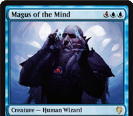 統率者2017「Magus of the Mind」が公開!禁止カード「精神の願望」を内蔵する青の大魔術師ウィザード!