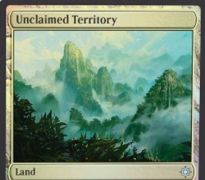 イクサラン収録のアンコ土地「Unclaimed Territory」がスポイラー公開!CIPでタイプを指定し、そのタイプのクリーチャーを唱えるために使える好きな色マナを生産!