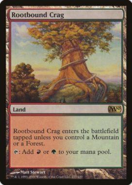 根縛りの岩山/Rootbound Crag(基本セット2010)