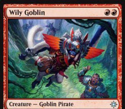 イクサランの赤アンコ海賊ゴブリン「Wily Goblin」が公開!赤赤で1/1&CIPで宝物トークンを1個生成!