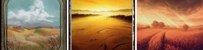 MTG「ジョークセット」のフルアート土地デザイン比較!一番好きなフルアート土地のデザインは?