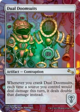 Dual Doomsuits(MTG「Unstable」収録レア・からくり)