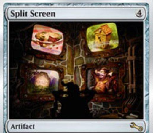 Unstable収録のレアアーティファクト「Split Screen」が公開!ライブラリーを4つに分割し、トップを公開してゲーム継続!ライブラリーを参照する際は好きなライブラリーを選べる!