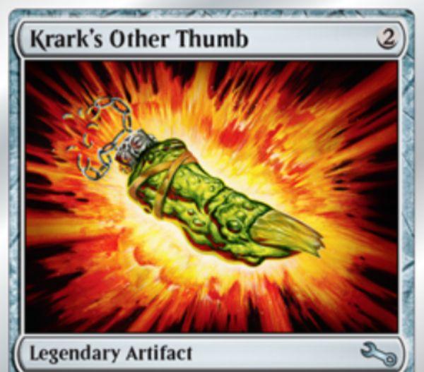 Unstable「Krark's Other Thumb(クラークの他の親指)」が公開!ダイスを振る場合に、2つのダイスを振って1つの目を無視できる!