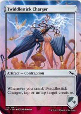 Twiddlestick Charger(MTG「Unstable」収録の「からくり」アーティファクト・コモン)