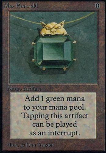 パワー9「Mox Emerald」が駿河屋で買取受付中!アルファ(Alpha)版の価格は16万円!