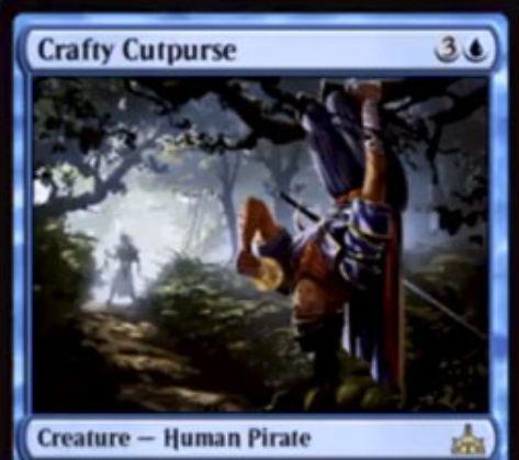 Crafty Cutpurse(イクサランの相克)が公開!4マナ2/2瞬速&戦場に出た際に、対戦相手の戦場に出るはずだったトークンを奪う!