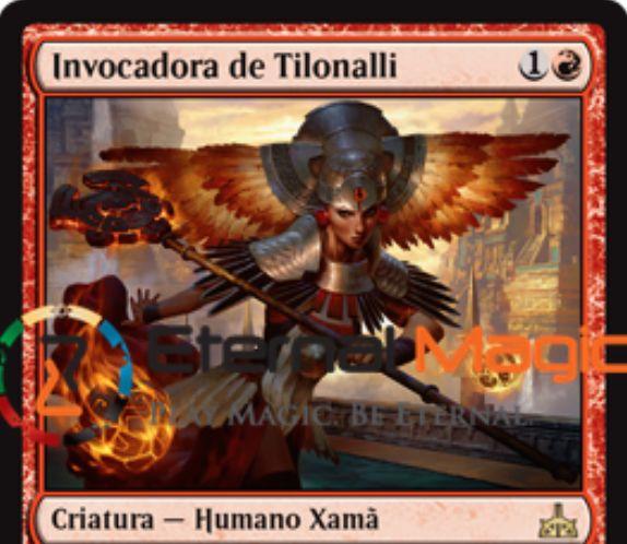 【イクサランの相克】赤レアのシャーマン「Tilonalli's Summoner」が公開!2マナ1/1&アタック時に赤Xを支払って攻撃状態の1/1エレメンタルをX体生成&昇殿状態ならばこのカードが出したエレメンタルはターン終了時以降も追放されない!