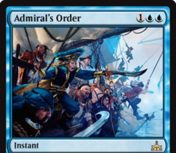 Admiral's Order(イクサランの相克)が公開!強襲条件を達成することで青マナ1点で唱えられる確定カウンター!