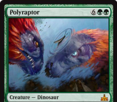 Polyraptor(イクサランの相克)が公開!緑緑6で5/5の神話恐竜!激昂すると自身のコピー・トークンを生成!
