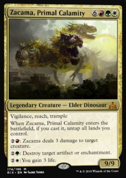 Zacama, Primal Calamity(イクサランの相克)